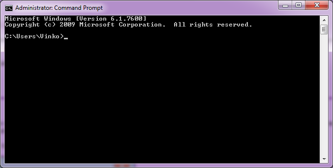 Ukazna vrstica (Command Prompt)